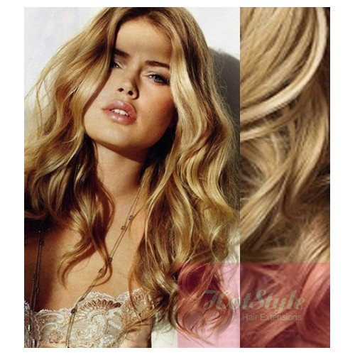Clip in wavy human hair remy natural blonde 20 50cm 20 50cm clip in wavy human remy hair natural blonde pmusecretfo Choice Image