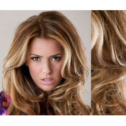 "20"" (50cm) Clip in wavy human REMY hair - mixed blonde"