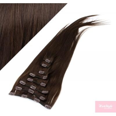 "15"" (40cm) Clip in human REMY hair - dark brown"