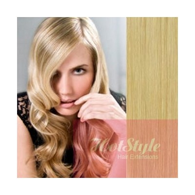 """15"""" (40cm) Clip in human REMY hair - natural blonde"""