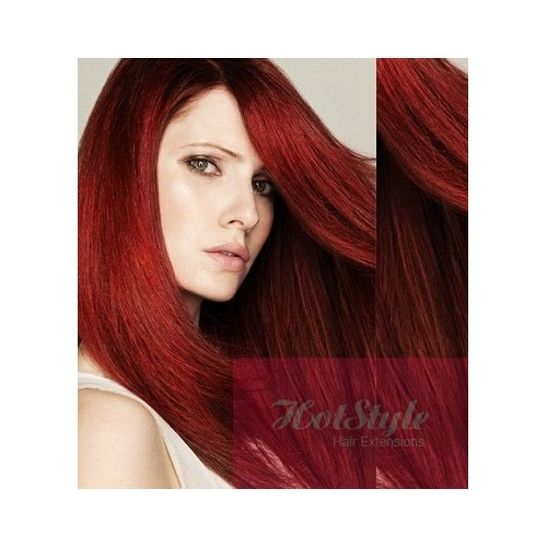 20 50cm tape hair tape in human remy hair copper red pmusecretfo Choice Image
