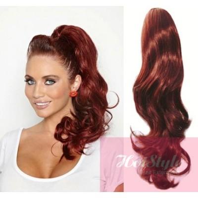 Clip in ponytail wrap braid hair extension 24 wavy copper red clip in ponytail wrap braid hair extension 24 wavy copper red pmusecretfo Choice Image