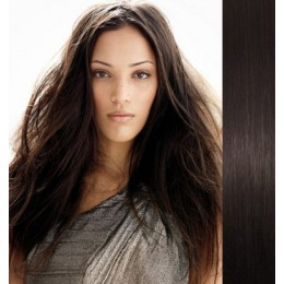 "24"" (60cm) Clip in human REMY hair - natural black"