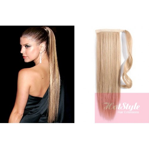 Clip in human hair ponytail wrap hair extension 20 straight clip in human hair ponytail wrap hair extension 20 straight natural blonde pmusecretfo Choice Image