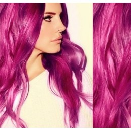 """20"""" (50cm) Tape Hair / Tape IN human REMY hair - pink"""