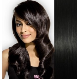"15"" (40cm) Clip in human REMY hair 100g - black"