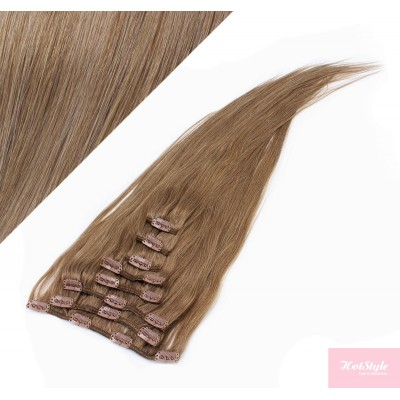 """15"""" (40cm) Clip in human REMY hair 100g - light brown"""