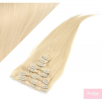 """15"""" (40cm) Clip in human REMY hair 100g - the lightest blonde"""