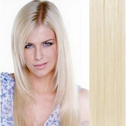 "15"" (40cm) Clip in human REMY hair 100g - platinum blonde"