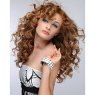 "Micro ring human hair extensions 20"" (50cm) curly"