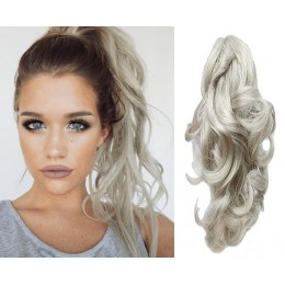 """Clip in ponytail wrap / braid hair extension 24"""" curly - natural/light blonde"""