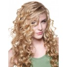 "Micro ring human hair extensions 24"" (60cm) curly"