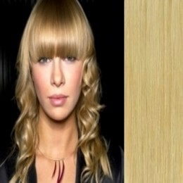 Clip in human hair remy bang/fringe – natural blonde