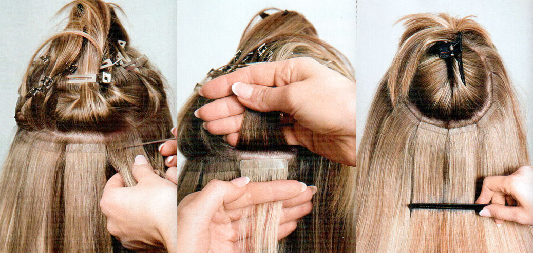 How to apply tape hair