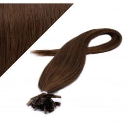 "20"" (50cm) Nail tip / U tip human hair pre bonded extensions - medium brown"