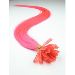 "24"" (60cm) Nail tip / U tip human hair pre bonded extensions – pink"