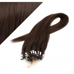 "15"" (40cm) Micro ring human hair extensions - dark brown"