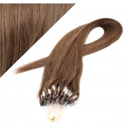 "20"" (50cm) Micro ring human hair extensions - medium light brown"
