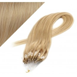 "20"" (50cm) Micro ring human hair extensions - natural blonde"