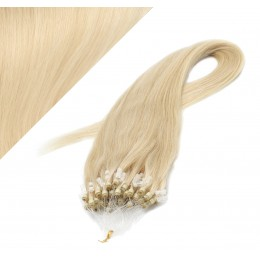 "20"" (50cm) Micro ring human hair extensions - the lightest blonde"