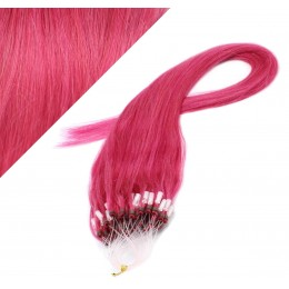 "20"" (50cm) Micro ring human hair extensions - pink"