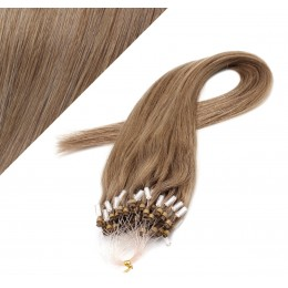 "24"" (60cm) Micro ring human hair extensions - light brown"