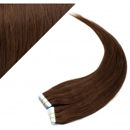 "16"" (40cm) Tape Hair / Tape IN human REMY hair - medium brown"