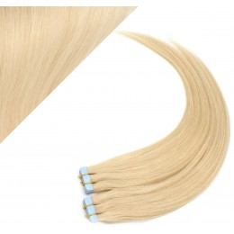 "16"" (40cm) Tape Hair / Tape IN human REMY hair - the lightest blonde"