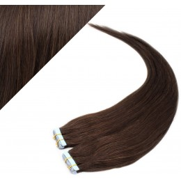 "20"" (50cm) Tape Hair / Tape IN human REMY hair - dark brown"