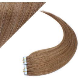 """24"""" (60cm) Tape Hair / Tape IN human REMY hair - light brown"""