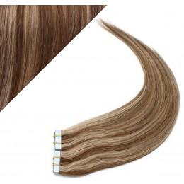 "24"" (60cm) Tape Hair / Tape IN human REMY hair - dark brown/blonde"