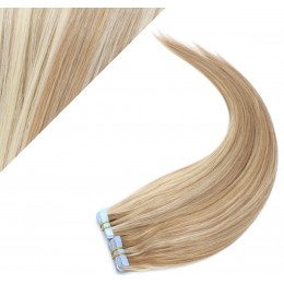 """24"""" (60cm) Tape Hair / Tape IN human REMY hair - mixed blonde"""