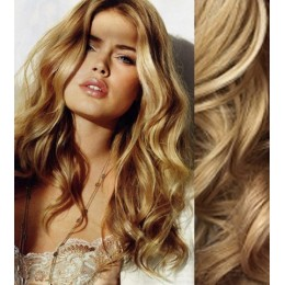 """20"""" (50cm) Clip in wavy human REMY hair - natural blonde"""