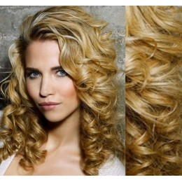 """20"""" (50cm) Clip in curly human REMY hair - natural blonde"""