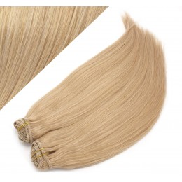 "24"" (60cm) Deluxe clip in human REMY hair - natural blonde"