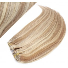 "28"" (70cm) Deluxe clip in human REMY hair - mixed blonde"