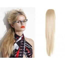 """Claw ponytail 24"""" straight - platinum blonde"""