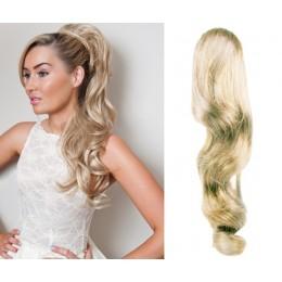 """Claw ponytail 24"""" wavy - platinum blonde"""