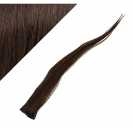 "20"" (50cm) clip in human hair streak - dark brown"