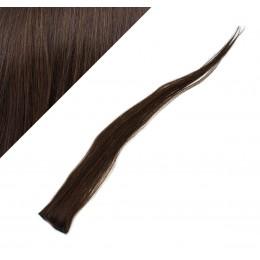 "20"" (50cm) clip in human hair streak - dark brown"