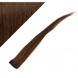 "20"" (50cm) clip in human hair streak - medium brown"