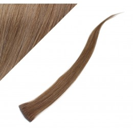"20"" (50cm) clip in human hair streak - light brown"