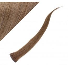 "20"" (50cm) clip in human hair streak - light brown"