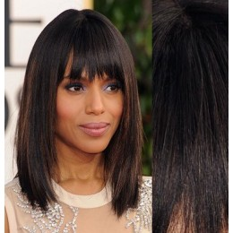 Clip in human hair remy bang/fringe – natural black