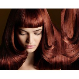 Clip in human hair remy bang/fringe – copper red