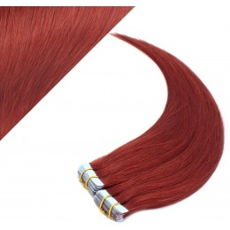 """24"""" (60cm) Tape Hair / Tape IN human REMY hair - copper red"""