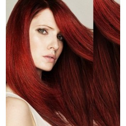 "24"" (60cm) Tape Hair / Tape IN human REMY hair - copper red"
