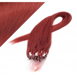 "15"" (40cm) Micro ring human hair extensions - copper red"