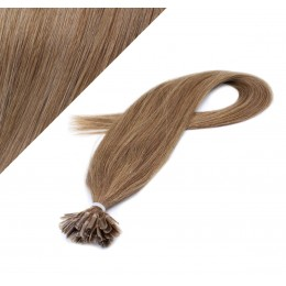 "16"" (40cm) Nail tip / U tip human hair pre bonded extensions - light brown"