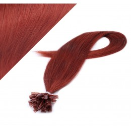 "20"" (50cm) Nail tip / U tip human hair pre bonded extensions - copper red"